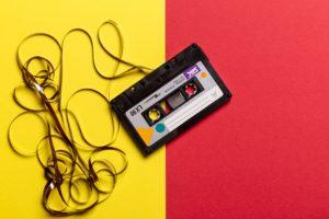 Imagem de uma fita cassete
