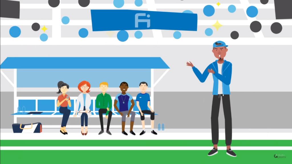 Ilustração de um banco de reservas em um jogo de futebol